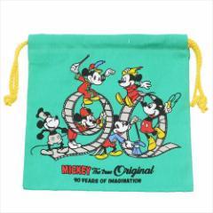 ミッキーマウス 巾着袋 きんちゃくポーチ フィルム ディズニー 20×20cm キャラクター グッズ メール便可
