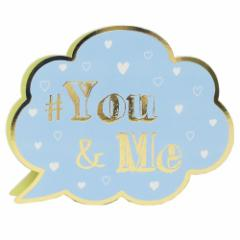 YOU & ME お菓子 バレンタイン ふきだしメッセージ チョコレート プチギフト かわいい グッズ