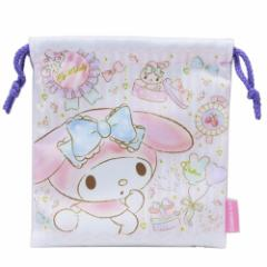 マイメロディ 巾着袋 きんちゃくポーチ ハピネス サンリオ 18×21cm キャラクター グッズ メール便可