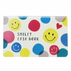 スマイリー 簡易 家計簿 通帳型キャッシュブック Colorful Smiley Smiley Face おこづかい帳 キャラクター グッズ メール便可