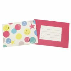 スマイリー 手紙セット レターセット Colorful Smile Smiley Face 便箋&封筒 キャラクター グッズ メール便可