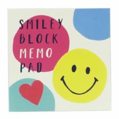 スマイリー メモ帳 ブロックメモ Colorful Smile Smiley Face 4柄180枚 キャラクター グッズ メール便可