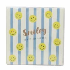 スマイリー フォトアルバム 台紙に書けるフリーアルバム Blue Stripe Smiley Face カラー粘着台紙タイプ メール便可