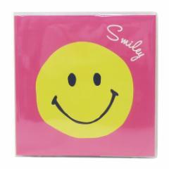スマイリー フォトアルバム 台紙に書けるフリーアルバム Smiley Face Smiley Face カラー粘着台紙タイプ メール便可