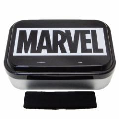 MARVEL お弁当箱 ふわっと アルミ メンズ ランチボックス BOXロゴ ブラック マーベル 870ml キャラクター グッズ