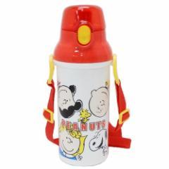 スヌーピー 水筒 直飲み プラ ワンタッチボトル フレンズ19 ピーナッツ 480ml キャラクター グッズ