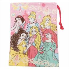ディズニープリンセス 巾着袋 歯ブラシホルダー付コップ袋 Princess 19 ディズニー 15×21cm キャラクター グッズ メール便可