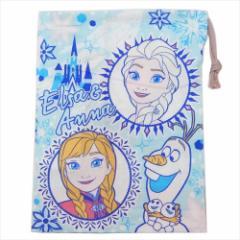 アナと雪の女王 巾着袋 歯ブラシホルダー付コップ袋 19 ディズニー 15×21cm キャラクター グッズ メール便可
