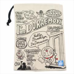 ドラえもん 巾着袋 歯ブラシホルダー付コップ袋 ブルックリン サンリオ 15×21cm キャラクター グッズ メール便可