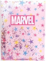 マーベル ポケットファイル 6ポケット+1ケース A4 キラキラ クリアファイル ロゴ ピンク 2019年 新入学新学期準備 書類整理