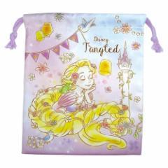 塔の上のラプンツェル 巾着袋 マチ付き きんちゃく ポーチ ディズニープリンセス 小物入れ キャラクター グッズ メール便可