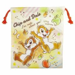 チップ&デール 巾着袋 マチ付き きんちゃく ポーチ ディズニー 小物入れ キャラクター グッズ メール便可