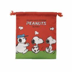 スヌーピー 巾着袋 マチ付き きんちゃくポーチ ブラザー ピーナッツ 小物入れ キャラクター グッズ メール便可