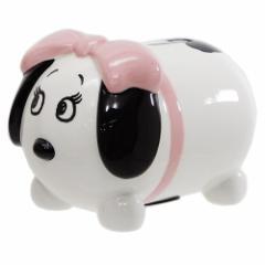 スヌーピー 陶器製貯金箱 まるまるセラミックフィギュアバンク ベル ピーナッツ かわいい キャラクター グッズ