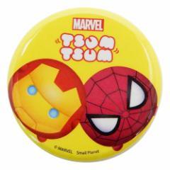 スパイダーマン&アイアンマン 缶バッジ ビッグ カンバッジ マーベルツムツム 直径4.3cm キャラクター グッズ メール便可