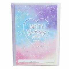 入学準備 連絡帳 B5 カバー付き れんらくノート 新入学文具 2019年 MELTY GALAXY 小学生 女の子向け プチギフト グッズ メール便可