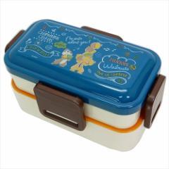 チップ&デール お弁当箱 4点ロックふわっと2段ランチボックス カフェボード ディズニー 230ml 370ml キャラクター グッズ