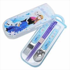 アナと雪の女王 カトラリーセット 食洗機対応 スライド式 トリオセット 19 ディズニー お箸&スプーン&フォーク メール便可