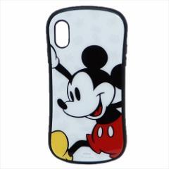 ミッキーマウス iPhone XR ケース アイフォン ハイブリッド ガラス ケース ディズニー カード ポケット付き キャラクター グッズ