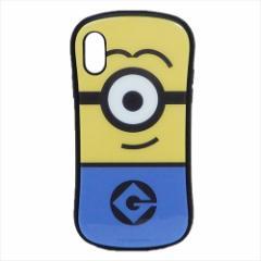 ミニオン iPhone XR ケース アイフォン ハイブリッド ガラス ケース アイコン 怪盗グルー カード ポケット付き キャラクター グッズ