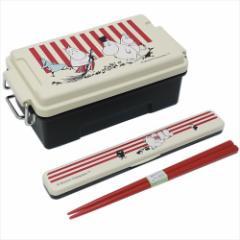 ムーミン ランチセット お弁当2点セット ボーダー&ストライプ 北欧 通学 通勤 弁当箱 箸 キャラクターグッズ