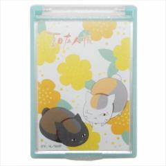 夏目友人帳 手鏡 ハンドミラー お花 ニャンコ先生 メイク 小物 キャラクター グッズ メール便可