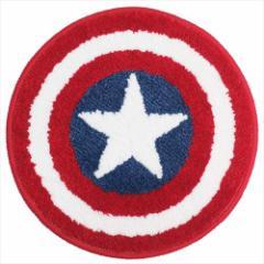 キャプテンアメリカ ミニミニマット ラウンドチェアシート シールドシート マーベル 直径35cm キャラクター グッズ