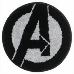 アベンジャーズ ミニミニマット ラウンドチェアシート ロゴ マーベル 直径35cm キャラクター グッズ