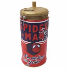 スパイダーマン ペットボトルホルダー 筒形ポーチ パワーメンバー マーベル 直径10×20cm キャラクター グッズ