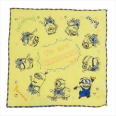 ミニオンズ ミニタオル 全面刺繍 ハンカチタオル マーチングミニオン ユニバーサル映画 25×25cm キャラクター グッズ メール便可
