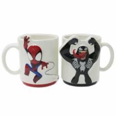 スパイダーマン&ヴェノム マグカップ ペアマグカップ2個セット グリヒル マーベル ギフト食器 キャラクター グッズ
