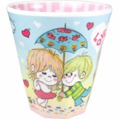 水森亜土 プラコップ Wプリント メラミンカップ あいあい傘 あどちゃん 子供用食器 キャラクター グッズ