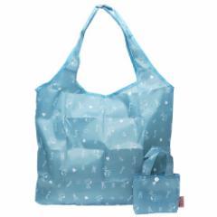 スヌーピー エコバッグ 折りたたみショッピングバッグ アルファベット ブルー ピーナッツ 43×33×10cm キャラクター グッズ