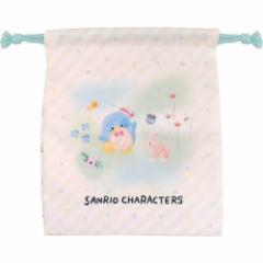 タキシードサム 巾着袋 マチ付き きんちゃく ポーチ サンリオ コップ袋 キャラクター グッズ メール便可