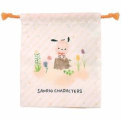 ポチャッコ 巾着袋 マチ付き きんちゃく ポーチ サンリオ コップ袋 キャラクター グッズ メール便可