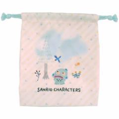 ハンギョドン 巾着袋 マチ付き きんちゃく ポーチ サンリオ コップ袋 キャラクター グッズ メール便可