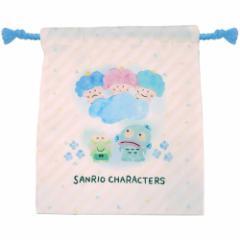 ゴロピカドン&けろけろけろっぴ&ハンギョドン 巾着袋 マチ付き きんちゃく ポーチ サンリオ コップ袋 キャラクター グッズ メール便可