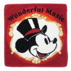 ミッキーマウス ミニタオル シェニール織 タオル ワンダフルミュージック ディズニー 25×25cm キャラクター グッズ メール便可