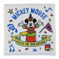 ミッキーマウス ミニタオル ハンカチタオル アニバーサリーブルー ディズニー 25×25cm キャラクター グッズ メール便可