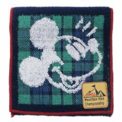 ミッキーマウス ミニタオル ポケット付き タオル マウンテンハイク ディズニー 12.5×12.5cm キャラクター グッズ メール便可