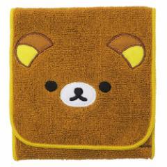 リラックマ ミニタオル ポケット付き タオル ゆったり日和 サンエックス 12.5×12.5cm キャラクター グッズ メール便可