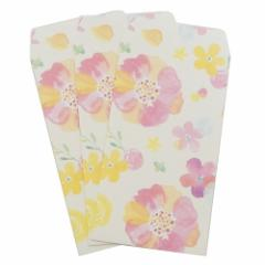 ぽち袋 nami nami ポチ袋(小)3枚セット ふんわりフラワー 金封 ガーリーイラスト グッズ メール便可