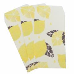 ぽち袋 Tomoko Hayashi ポチ袋(小)3枚セット レモン 金封 ガーリーイラスト グッズ メール便可