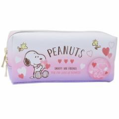 スヌーピー ペンポーチ BOX ペンケース 缶バッジ付き ピーナッツ 新学期準備雑貨 キャラクター グッズ