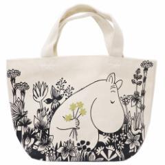 ムーミン ランチバッグ マチ付き コットンバッグ お花摘み 北欧 30×20×9.5cm キャラクター グッズ