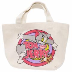 トムとジェリー ランチバッグ マチ付き コットンバッグ サークル 30×20×9.5cm キャラクター グッズ