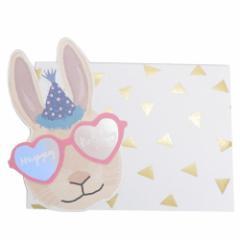 ハンナメリン グリーティング カード サングラスアニマル バースデーカード ハートラビット アニマル 誕生日祝い メール便可