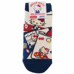 ハローキティ 女性用 靴下 レディース ソックス 45周年コミック サンリオ 23〜25cm キャラクター グッズ メール便可