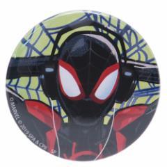 スパイダーマン : スパイダーバース 缶バッジ ビッグ カンバッジ ヘッドフォン マーベル 直径5.4cm キャラクター グッズ メール便可