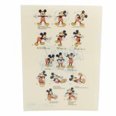 ミッキーマウス ファイル A4 シングル クリアファイル 2118343 ディズニー 新学期準備雑貨 キャラクター グッズ メール便可